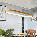 JUANLIGHT Lampadario Ristorante in Legno massello lampadario Semplice personalità LED Creativo Bar Studio Sala da Pranzo Camera da Letto (Luce a Tre Colori),Tricolorlight,70 * 20 * 80cm