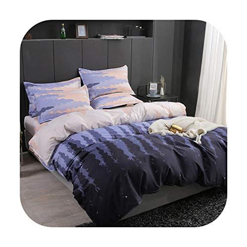 Juego de ropa de cama doble dulce con impresión de corazón 3/4 piezas ropa de cama hogar Textil juego de funda nórdica clásica ropa de cama moderna sábana de la sábana de cama king - elegante juego de cama juego de sábanas