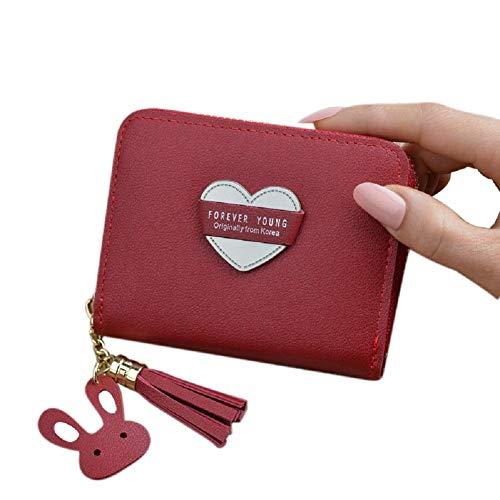 Xinyin Coin Purse Mini Wallet PU Card Case for Girls 11cm*9cm*2.5cm