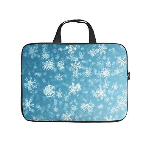 copo de nieve bolsa de ordenador portátil diseño bolsa suave a prueba de polvo portátil maletín con asa portátil para mujeres hombres blanco 13 pulgadas
