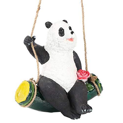 Gartendekoration Simulation Panda Schaukel Tier Hänge Harz Handwerk Baumschmuck Hänge Anhänger Niedliche Tier Ornamente für Kinder Kinder Kleinkinder Sammler Tierliebhaber