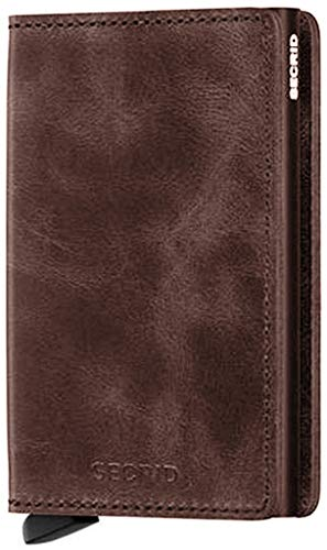 Secrid SV-Chocolate Slimwallet Vintage RFID Secured Wallet