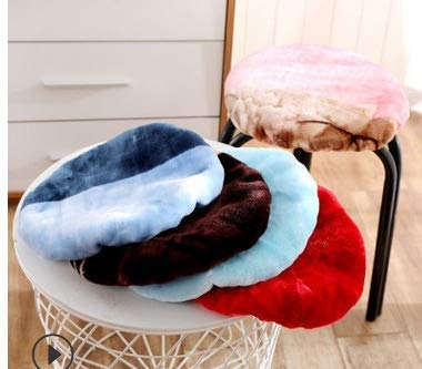 unknow pads Round Tie Cushion Pillow Cushion Stool for Kids Kitchen Tatami Home Decor Easy to clean (Color: Random)