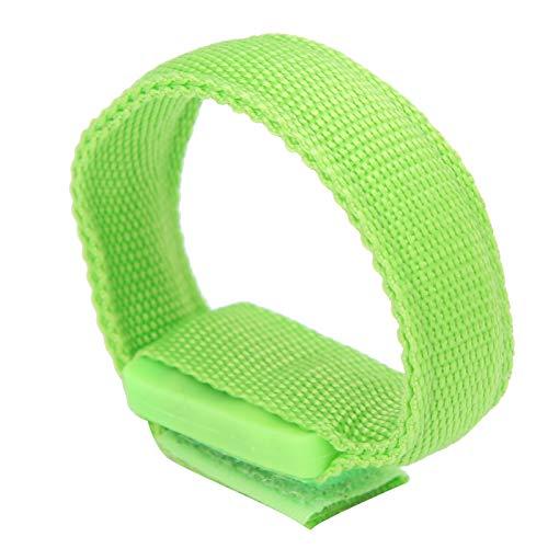 Pulsera ligera, diseño de bucle y gancho de flash rápido Pulsera luminosa de peso ligero para fitness para deportes Protección para deportes al aire libre para entrenamiento(green)