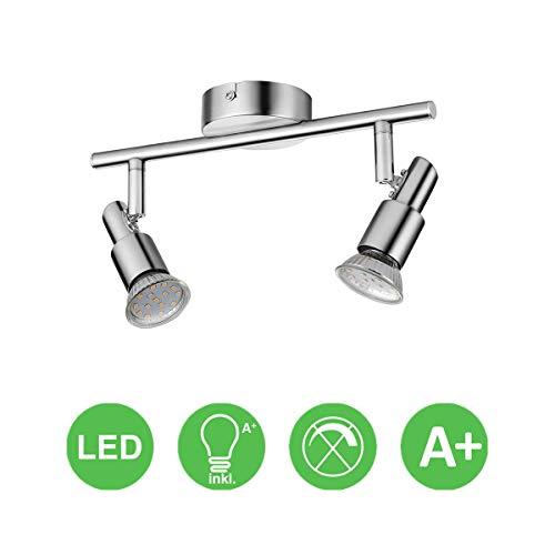 LED Deckenleuchte Deckenlampe, 2-flammig Dreh- und schwenkbar 3W GU10 230V IP20 Metall Warmweiß, für Küche Wohnzimmer Schlafzimmer