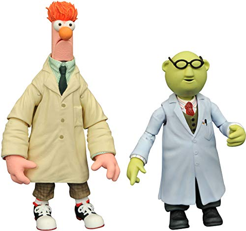 DIAMOND SELECT TOYS Muppets Series 2: Statler, Waldorf, Bunsen, Beaker, Swedish Chef Assortment