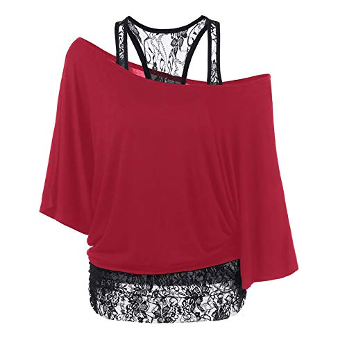 Pistaz Womens Casual V Neck Long Sleeve Balloon Shirt and Blouses Loose Lace Solid Crochet Button Down Bell Sleeve Tops Shirts Loose Blouses