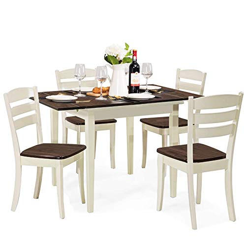 Giantex 5 Pcs Dining Table Set, Folding and Extendable Tabletop