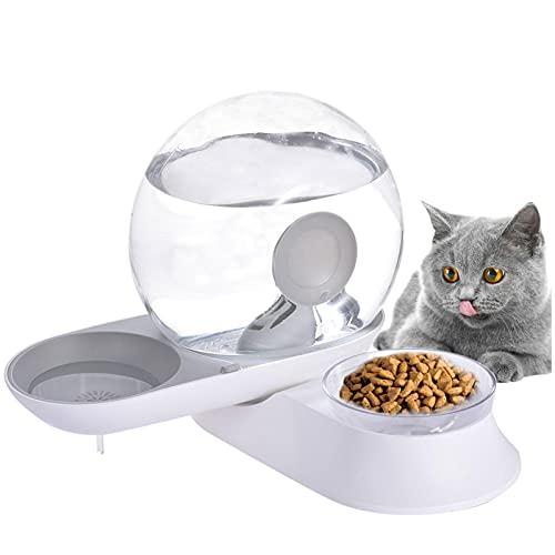 Frifer Fuente para gatos, 3 litros, dispensador de agua para perros con luz LED, fuente de agua transparente actualizada con 1 filtro de repuesto, 1 bomba de agua silenciosa ajustable