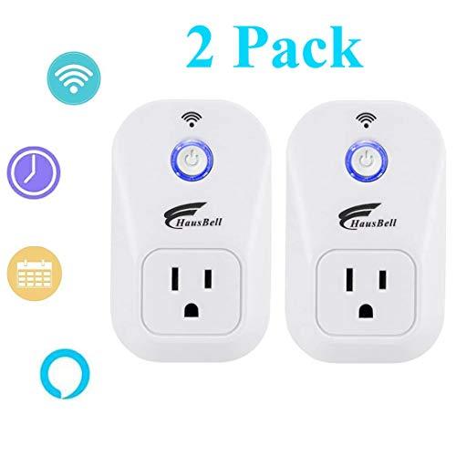 HAUSBELL WiFi Smart Plug, Alexa Smart Plug, WiFi Outlet, Mini Socket, Smart Outlets, WiFi Outlet Plug, Smart Home Devices, Compatible with Alexa, Echo, Google Home, Remote Control No Hub Required