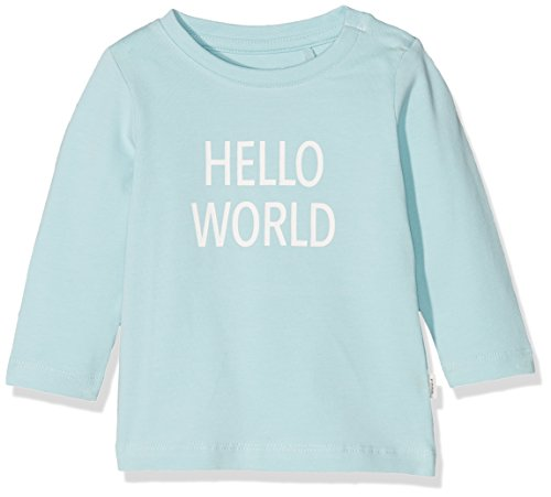 Name It Nbndelufido Ls Top Noos T-Shirt, Bleu (Canal Blue), 74 Mixte bébé