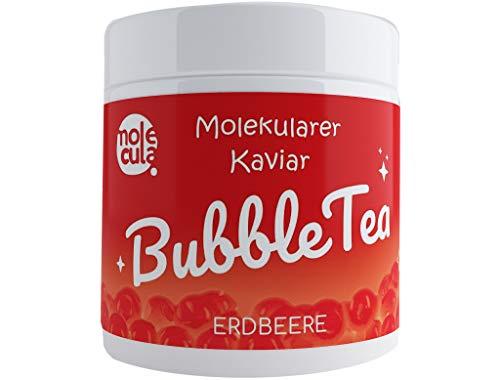 Popping Boba Fruchtperlen für Bubble Tea Tapioca Molekularer Kaviar Erdbeere 800g Fruchtperlen 100 % Vegan