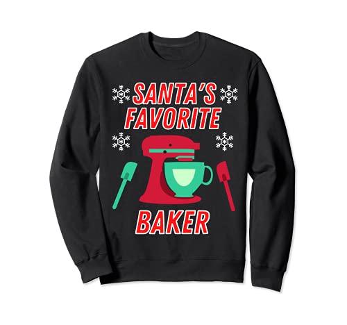 Divertido regalo de Navidad para hornear Sudadera