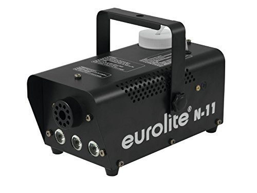 Eurolite N-11 LED Hybrid amber Nebelmaschine | Kompakte 400-W-Nebelmaschine mit amberfarbenen LEDs | Der austretende Nebel wird beleuchtet | Der Nebel wirkt dadurch wie Feuer