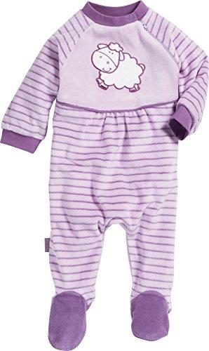 Playshoes Baby-Mädchen Schlafanzug Schlafoverall Nicki Schaf Schlafstrampler, Violett (original 900), (Herstellergröße: 62)