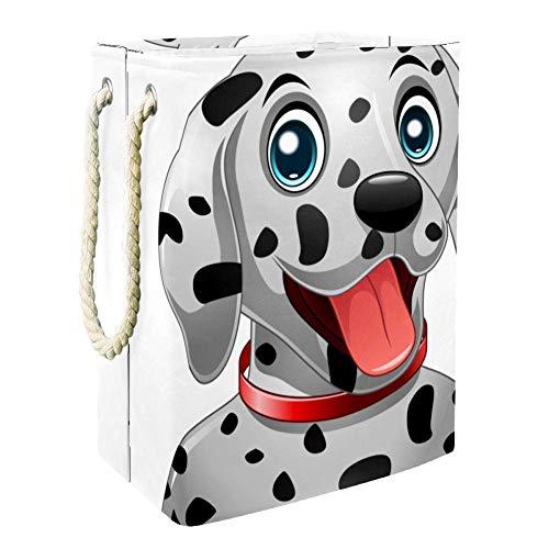 Nakw88 - Cesta de lavandería para perro dálmata, impermeable, cuadrada, plegable, de tela Oxford, cesta de almacenamiento