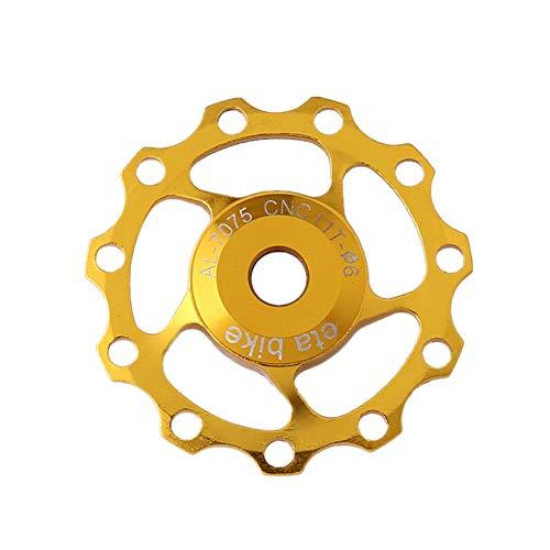 roldanas MTB desviador Trasero Bicicleta Cambio de Marchas de 13T Teniendo polea Cadena de Bicicleta de Cambio Trasero Rueda de Bicicleta de 13T Yellow,1