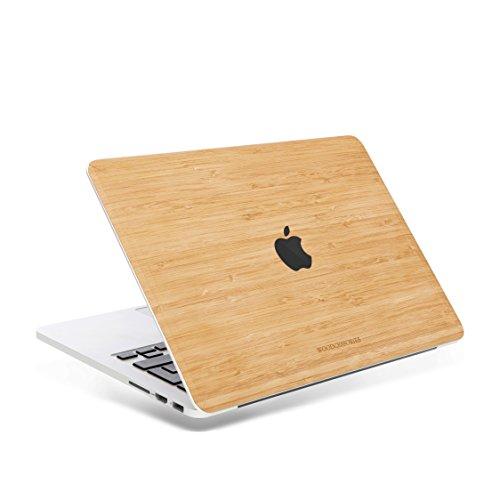 Woodcessories - EcoSkin - Design Macbook Cover, Skin, Schutz für das Macbook mit Apfellogo aus FSC zert. Holz (MacBook Air 2018 / 13 Pro + Touchbar (ab 2016), Bambus)