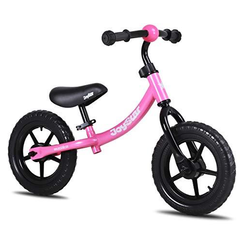 "JOYSTAR 12"" Balance Bike for 1 2 3 4 5 Years Old Girls, Toddler Push Bike for Child, Infant 12 Inch Kids Glider Bike, Children Slider Cycle, Pink"