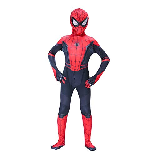 スパイダーマン全身タイツ Far From ホーム スパイダーマン:ファー・フロム・ホーム 弾力と伸縮性あり ライクラ 赤 子供用 大人用 (180-190cm分離式) コスチューム コスプレ衣装  仮装 変装 誕生日 プレゼント スパイダーマン コスプレ