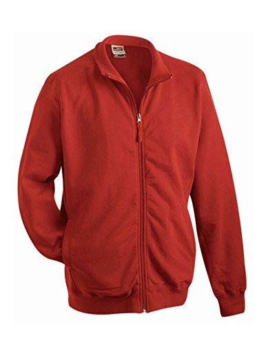 2Store24 Men's Sweat Jacket in Burgundy Size: L