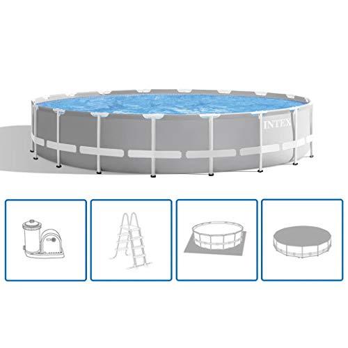 Intex Swimming Pool Komplettset Stahlwand 549x122cm Schwimmbecken Schwimmbad