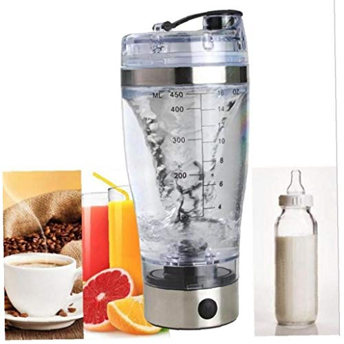 Electric Protein Shaker Bottle Rechargeable Vortex Mixer with Sports Flip Cap Coffee Cocoa Fast Mixing Cup Water Bottle
