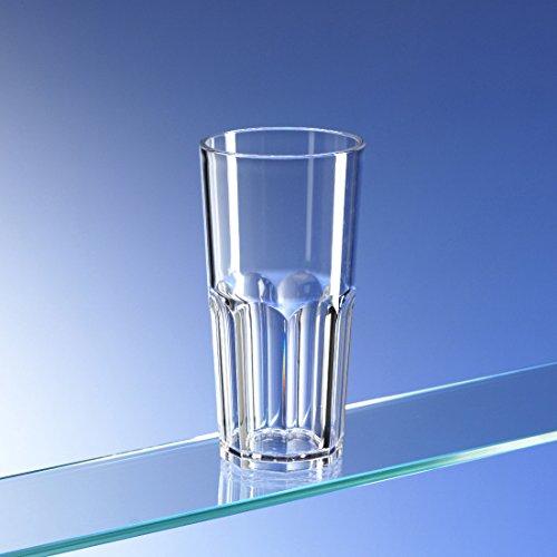 Juego de 6 vasos de plástico irrompibles y reutilizables, forma octogonal, de...