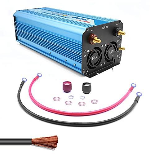 Inversor de corriente para coche 2000 / 4000W Inversor de onda sinusoidal pura Inversor de pantalla doble LCD 12V24V a 110V220V Puerto USB Convertidor de onda en inversor de coche 48V-220V-4000W