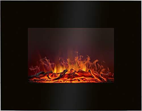 Bomann EK 6023 CB elektrischer Kaminofen, 2 stufiger Heizlüfter 900 Watt / 1850 Watt, Flammeneffekt in 4 Stufen, schwarz