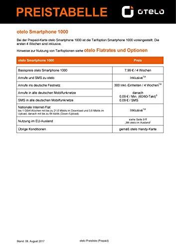 otelo Smartphone Prepaid Handy SIM Karte 1. Monat inklusive zum selber registrieren von o.tel.o Vodafone D2