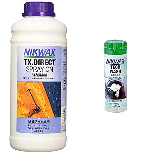 NIKWAX(ニクワックス) TX ダイレクトスプレー詰替 1L BE573 【撥水剤】 & LOFTテックウォッシュ BE181 【洗剤】【セット買い】