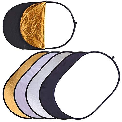 CROSYO 1Est 60x90cm 24''x35 '' 5 en 1 Multi Disc Photography Studio Photo Oval Plackible Light Reflector Handhold Photo Disc