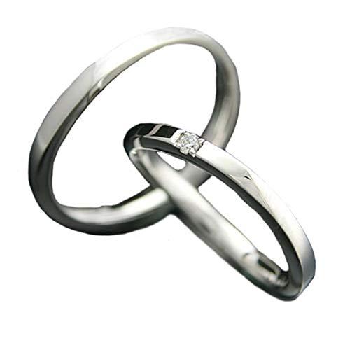 [ココカル]cococaru ペアリング 2本セット K18 ホワイトゴールド 結婚指輪 ダイヤモンド 日本製(レディースサイズ13号 メンズサイズ12号)