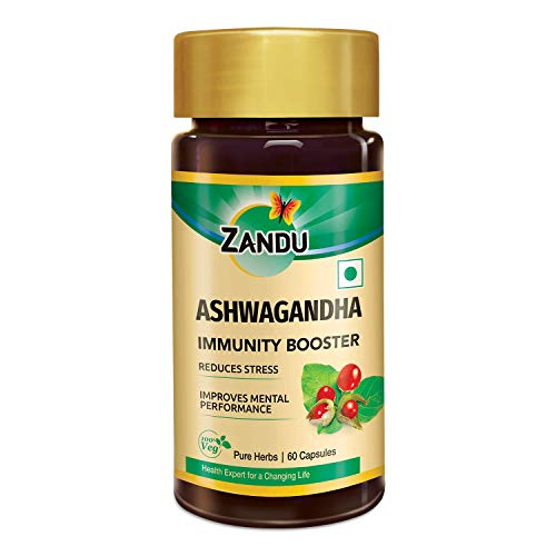 Zandu Ashwagandha Capsules, With Goodness of Natural Extracts of Ashwagandha, Helps Boost Immunity and Useful for Natural Body...