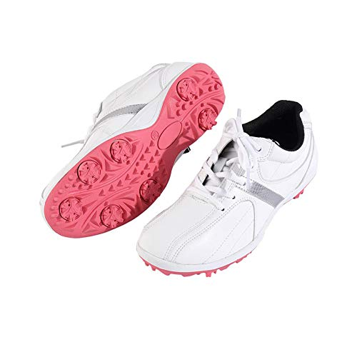 CGBF-Zapatos de Golf Antideslizantes Impermeables para Mujer Zapatos Deportivos Casuales Transpirables Al Aire Libre,Rosado,38 EU