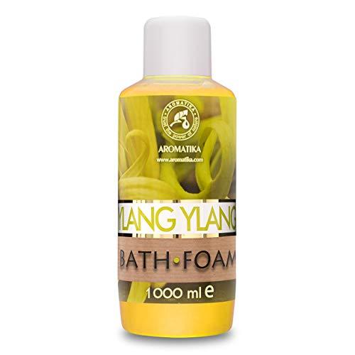 Espuma Baño con Aceite Esencial Ylang Ylang 1000ml - Cuidado del Cuerpo - Buen Sueño - Belleza - Cuidado del Cuerpo - Bienestar - Relajación - Aromaterapia - Spa - Aroma Ylang - Baños de Burbujas