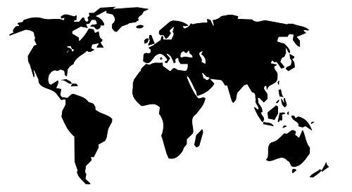 Generic, adesivo con mappa del mondo, disponibile in 27 x 15 cm, 50 x 30 cm, 80 x 45 cm, 100 x 55 cm, per camper, roulotte, caravan o adesivo da parete 203