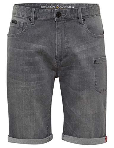 ROADSIGN Australia Herren Jeans-Bermuda im 5-Pocket Style mit seitlicher Aufsatztasche grau   31