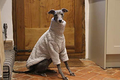 Pijama de forro polar suave gris con diseño de galgo italiano, azabache, lurcher, galgo, saluki Sighthound.