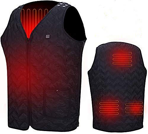 Heated Vest, Washable Size Adjustable USB Charging Heated Warm Vest for Outdoor Camping Hiking Golf