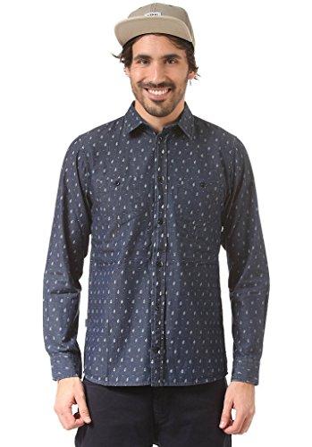 Cleptomanicx Herren Langarmhemd blau S