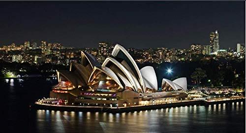 YUMUYAO Puzzle Puzzle per Adulti 1000 Pezzi Sydney Opera House Arte Moderna per la Decorazione della casa Giocattoli Divertenti Giochi in Legno Giocattoli educativi per Bambini e Adulti