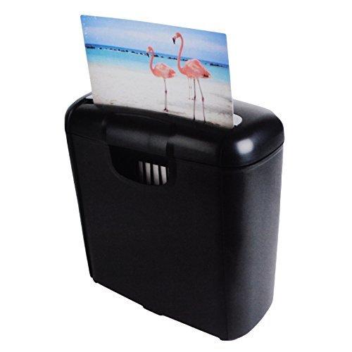 10 Liter Aktenvernichter Shredder Schredder Reißwolf Papierschredder 6 mm | H x B x T 32 x 29 x 14 cm | Schwarz, Silber
