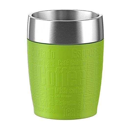 Emsa 514516 Isolier-Trinkbecher, Mobil genießen, 200 ml, Dreh- Trinkverschluss, Grün, Travel Cup