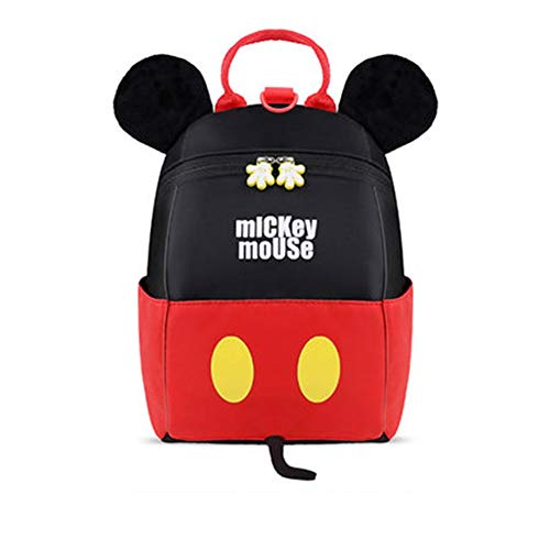zhangmeiren Boys Girls Backpack 1-3 Years Old Boys And Girls Cute Backpack Schoolbag Cute Cute Mouse Shape (Color : C)