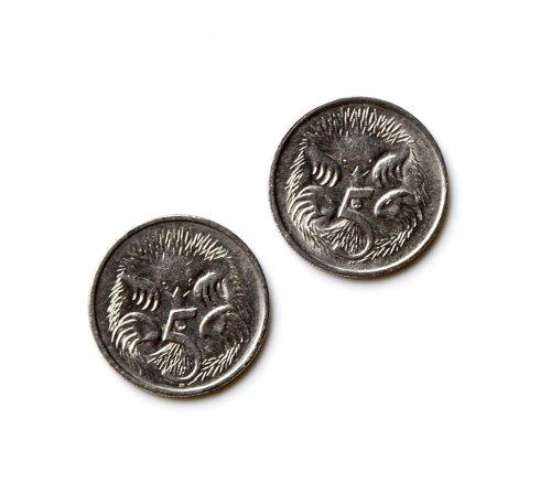 Gemelos con diseño de moneda de Australia – Regalo ideal para papá – Incluye caja de regalo