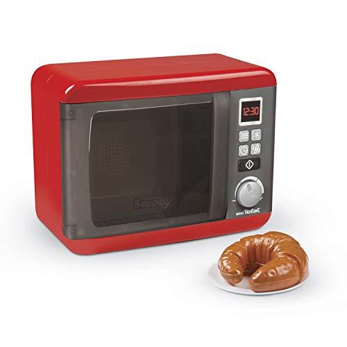 Smoby-227-310586 Microondas de Juguete, Color Rojo (310586)
