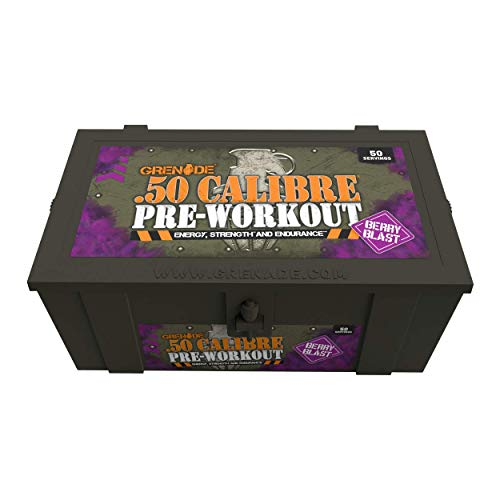 Grenade 50 Calibre Pre-Workout Devastation - Berry Blast, 50 Servings
