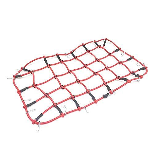 IGOSAIT Piezas de decoración de la Red de Equipaje para 1/10 D90 SCX10 90046 TRX-4 KM2 RC Crawler Durabilidad (Color : Red)